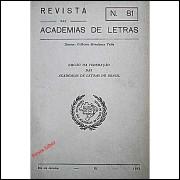 Revista das Academias de Letras Nº 81