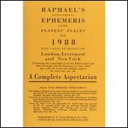 Raphaels Astronomical Ephemeris of the Planets Places 1988