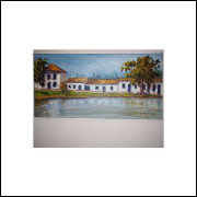 Casario Pintura Acrílico Sobre Tela - Medidas 20 Cm x 40 Cm