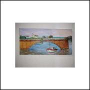 Ponte da Barra de São João Rj - Acrílico Sobre Tela - Medida 20 x 40