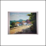 Casarios - Pintura Acrílico Sobre Tela - Medidas 40 Cm x 50 Cm