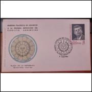 Primeira Exposição do Exército Argentino 1964 - Selo John F. Kennedy