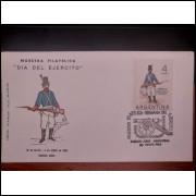 Dia Del Ejercito - Nuestra Filatelica 1964 - Envelope e Selo