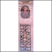 Marcador de Páginas Tutankamon - Papiro Egípcio
