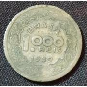 Moeda 1000 Reis 1939 Tobias Barreto