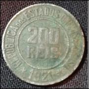 Moeda 200 Reis 1921