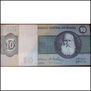 Cédula 10 Cruzeiros D. Pedro II