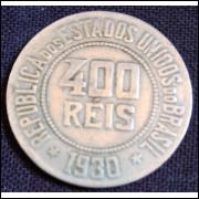 Moeda 400 Reis 1930