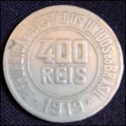 Moeda 400 Reis 1919