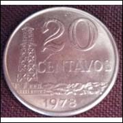 Moeda 20 Centavos 1978