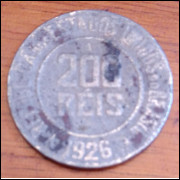 Moeda 200 Reis 1926
