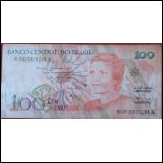 Cédula 100 Cruzeiros - Cecília Meireles