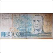 Cédula 10000 Cem Mil Cruzeiros - Juscelino Kubitschek