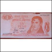 Cédula 1 un Peso Argentina - Gral. Belgrano